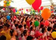 Hình ảnh Ngày Hội bé vào hè và đón bằng công nhận trường Mầm non đạt chuẩn Quốc gia mức độ II năm học 2014-2015
