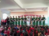 Hoạt động ngoại khóa chủ điểm: Ngày thành lập QĐNDVN và QPTD 22/12 của Trường MNTHSP Kon Tum với Trung đoàn 28 – Sư đoàn 10