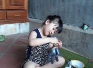 Các hình ảnh hoạt động tại nhà trong thời gian nghỉ học tập trung do dịch bệnh Covid-19 của học sinh trường MNTHSP Kon Tum