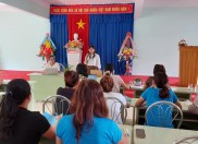 Đoàn công tác của Sở GD&ĐT tỉnh về thăm và làm việc tại trường Mầm non THSP Kon Tum